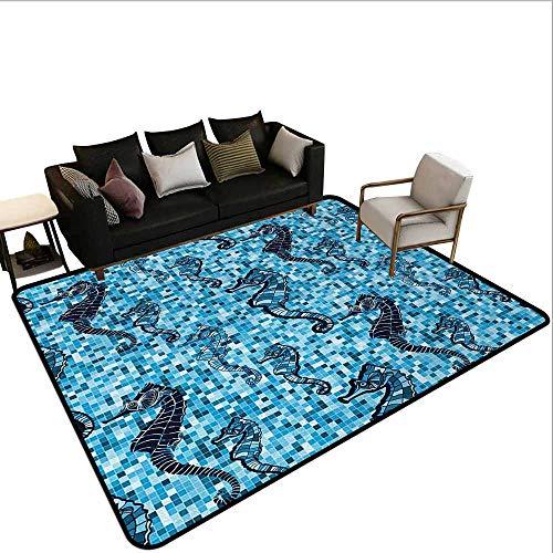 MsShe Superior hal tapijt Dier, Magestic Leeuw Hoofd Hipster Stijl Bril Pijpen Schets Print,Beige Zwart Baby Blauw Lichtroze