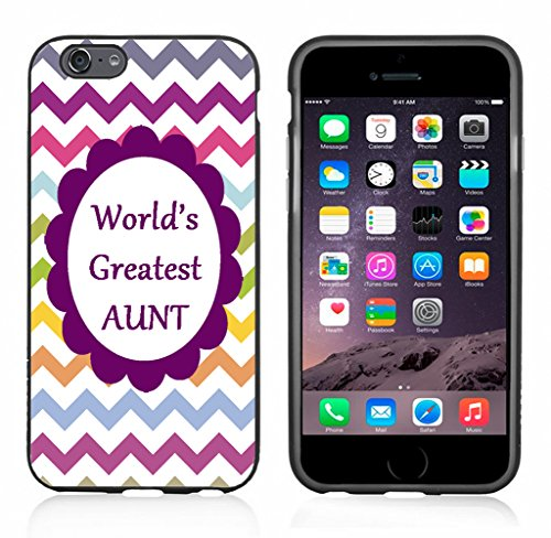 Chevron Rainbow Greatest Aunt Case/Cover For Iphone 6 or 6S by Atomic Market
