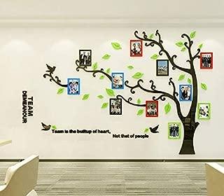 Asvert Vinilos Árbol con Hojas Multi-Colores Pegatina de Pared 1.75 * 2.3 m con 11 Marcos de Fotos Murales de 12.7 * 17.8 cm Decoración Hogar 3D para Sala de Estar Corredor Escalera Dormitorio