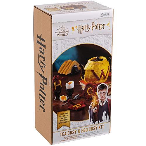 Harry Potter Wizarding World Coleccion de kits de tejer | Harry Potter Tea Cosy y Egg Cosy Kit de tejer por Eaglemusgo Hero Collector