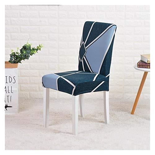 WQAZ Weicher Stuhlbezug Stuhlabdeckungen Spandex elastischer Stuhlabdeckung Printed verbunden Minimalistisches Hotelrestaurant Home Samtmaterial (Color : Color 11, Specification : Universal Size)