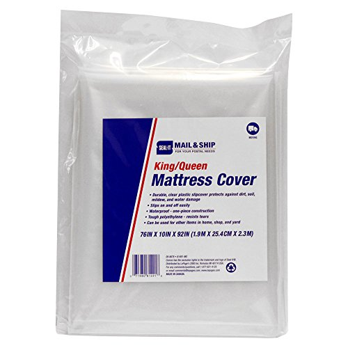 Lepage 's USPS Single kmattress para mover, Transparente, King/Queen