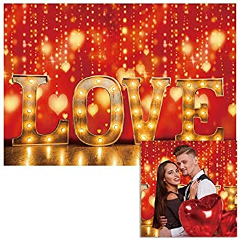 Funnytree 7x5ft Valentine s Day Love Photography Backdrop Red Bokeh Wedding Bridal Shower Party Background Baby Girl Ladies Party Portrait Decorations Banner Photo Booth Studio Props Mini Session