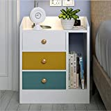 <span class='highlight'>Vanimeu</span> <span class='highlight'>Wooden</span> <span class='highlight'><span class='highlight'>Bedside</span></span> <span class='highlight'>Cabinets</span> <span class='highlight'><span class='highlight'>Bedside</span></span> <span class='highlight'>Table</span> Night Stand Side <span class='highlight'>Table</span> with Storage Drawers Bedroom Furniture (white   pw