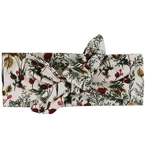 Müsli by Green Cotton Baby-Girls Winter flower headband Hat, Buttercream, O/S