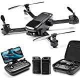 Ruko U11 GPS Drones with Camera for adults, 40 Mins Flight Time, 4K UHD Mini FPV Quadcopter with Live Video, Auto Return Home, Follow Me, Tap Fly, Easy to Use for Beginner (2 Batteries and Carrying Case) - Black