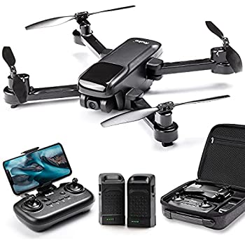 Ruko U11 GPS Drones with Camera for adults 40 Mins Flight Time 4K UHD Mini FPV Quadcopter with Live Video Auto Return Home Follow Me Tap Fly Easy to Use for Beginner  2 Batteries and Carrying Case  - Black