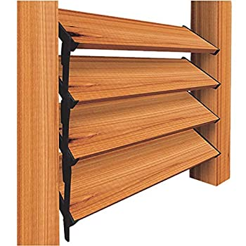 Nuvo Iron Louver Blinds & Shutter System - Hardware Kit  Designed for use of up to 48  W  - LSB48  2 Pack