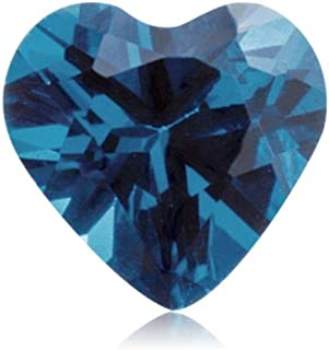 Mysticdrop Synthetic Heart Shape Swiss Made Rough Blue Sapphire from 5MM-10MM