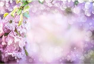 AOFOTO 5x3ft Pastel Purple Blossom Background Bokeh Dots Spring Flowers Backdrop Girls Newborn Baby Portrait Photo Shoot Backdrop Vinyl Kids Adutls Tea Party Decoration Photo Studio Props