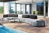 OUTFLEXX - Mobiliario de salón (aluminio y acrílico, 6 personas), color gris claro y oscuro