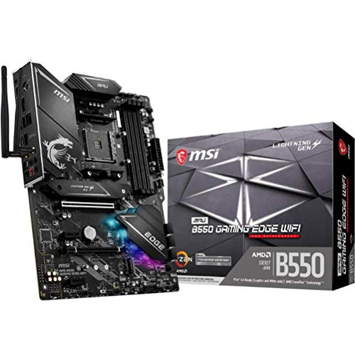 MSI MPG B550 Gaming Edge WiFi Gaming Motherboard (AMD AM4, DDR4, PCIe 4.0, SATA 6Gb/s, M.2, USB 3.2...