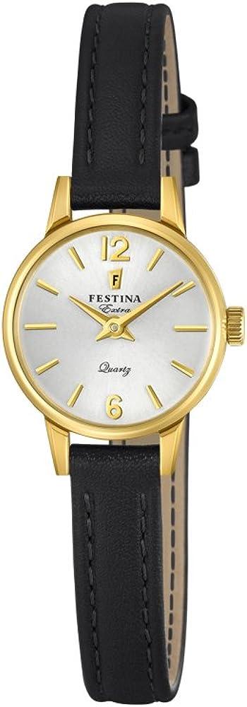 Festina orologio da donna con cassa in acciaio inossidabile e cinturino in vera pelle F20261-1