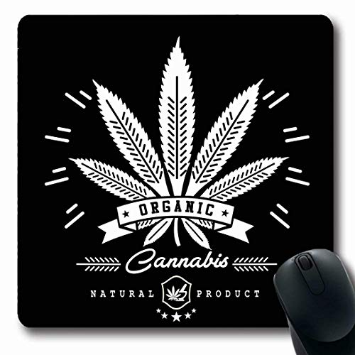 Alfombrillas de ratón para ordenadores Forma oblonga Aceite verde ilegal Marihuana Gráficos...
