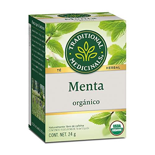 Traditional Medicinals Té orgánico de Menta, Aromatico y refrescante, 24 gramos
