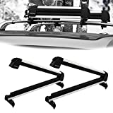 Bonnlo 31' Ski Snowboard Car Racks Fits 4 Pairs of Skis or 2 Snowboards, Aviation Aluminum Universal Lockable Ski Roof Carrier Fit Most Vehicles Equipped Cross Bars