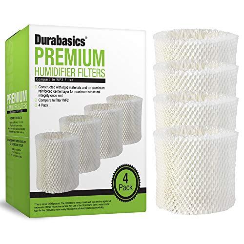 Durabasics 4 Pack Compatible Protec, Kaz & Vicks Humidifier Replacement Filter Model WF2 | Compatible with Protec Humidifier Filter, Vicks Starry Night Humidifier Filter & Vicks Humidifier Filter WF2