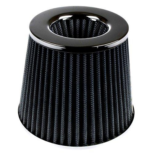Filtro de aire universal para coche, alta potencia, filtro conico de entrada de aire fabricado en malla deportiva para coche, carreras de automovilismo