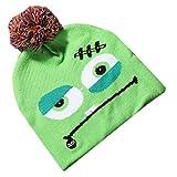 Jamicy TM Sombrero de punto brillante para Halloween, para niños, adultos, fiesta, calabaza, gorra de punto con luz, una variedad de estilos a elegir B Talla única
