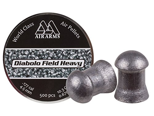 Air Arms Field Heavy .177 Cal, 4.52mm, 10.34 Grains, Domed, 500ct