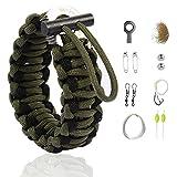 """The Friendly Swede Bracelet Multi-Fonction en Paracorde avec Kit de Survie """"Grenade"""" pour la Randonnée - Garantie A Vie (Vert..."""