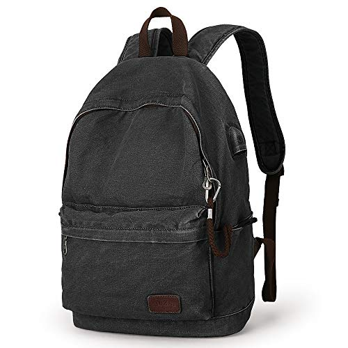 Canvas Backpack Lightweight Travel Daypack Student Rucksack Laptop Backpack