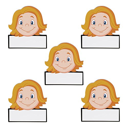 5 Namen Magnete Avatar Frauen Wiederbeschreibbar 5,5 x 5 cm für Magnettafeln, Kühlschränke, Plantafeln und Whiteboards - Emoji Magnet Women Name Magnet