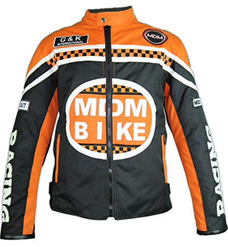 MDM Textil Motorradjacke (XL, Orange)