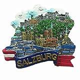 3D Salzburg Österreich-Kühlschrankmagnet, Heim- und Küchendekoration, Magnetaufkleber, Salzburg Österreich, Kühlschrankmagnet, Reise-Souvenir, Geschenk