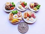 Thai 5 Mix Breakfast Egg & Steak Dollhouse Miniature Food,Tiny Food, Doll Collectibles,Doll Food