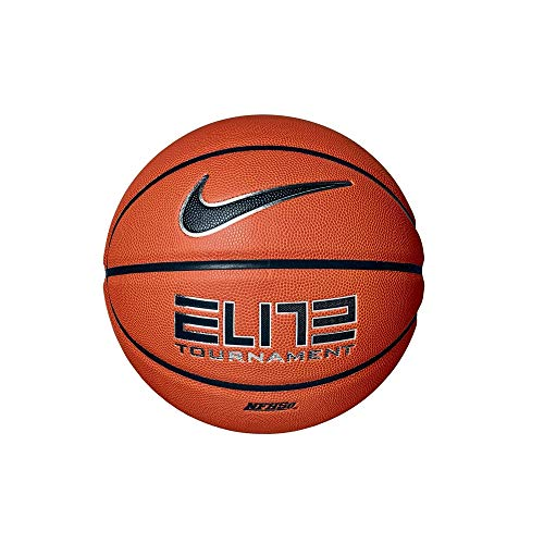 Nike Unisex– Erwachsene Elite Tournament Basketball, Amber/Black/Metallic Silver/Black, 7