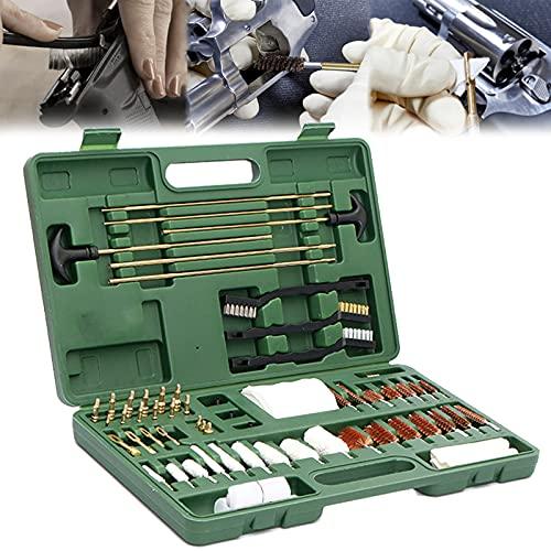 YNITJH Kit per Pulizia Armi,Pistola Fucile Set Cura Manutenzione,Kit Universale di Accessori in Alluminio per la Pulizia di Pistole e Fucili,con la Valigia