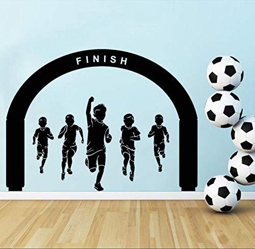Autocollants Muraux Mural Stickers Running Sports Competition Vinyl Stickers Muraux Childs Kids Nursery Room Decor Winner 42 × 57 cm