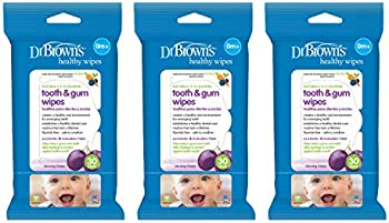 3-Pack Dr. Brown's Tooth and Gum Wipes