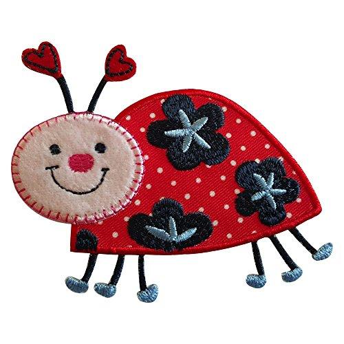 Marienkäfer 9X7cm opstrijkapplicatie strijkafbeelding stof patch jurken om op broeken vaandel hemd jurken pet rok turnzak halsdoek wimpel rugzak tas hoed sjaal jeans jas kussen deur