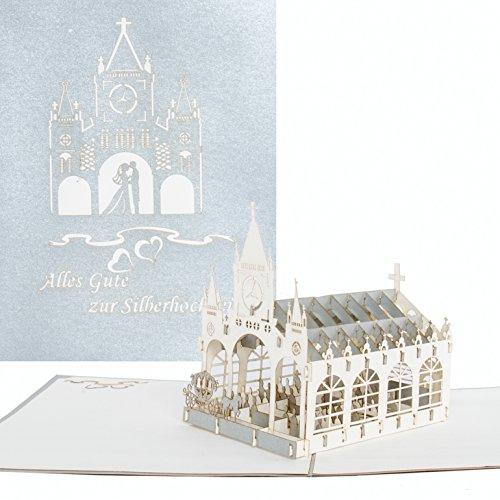 """3D Karte """"Alles Gute zur Silberhochzeit"""