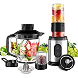 NWOUIIAY Mixer Standmixer 800W 23000RPM Multifunktionsmischer 5 in 1 mit Smoothie Maker Zerkleinerer...