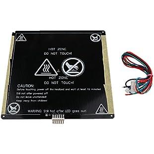 MagiDeal 12V MK3 220X220mm Aluminum Board PCB Heatbed Heat Bed For Reprap 3D Printer