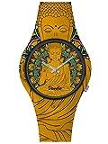 Doodle Watch Orologio da polso Oriental Mood Tattoo Buddha Arancione DO39002