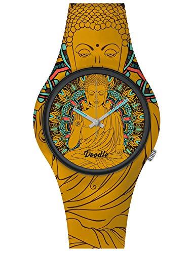 Doodle Watch Montre Oriental Mood Tatouage Bouddha Orange DO39002