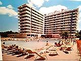 Hotel Jumbo Park. San Augustin. Palma de Mallorca. Alte AK farbig. Gebäudeansicht, Poollandschaft, Sonnen - Terrasse, Personen, Spanien