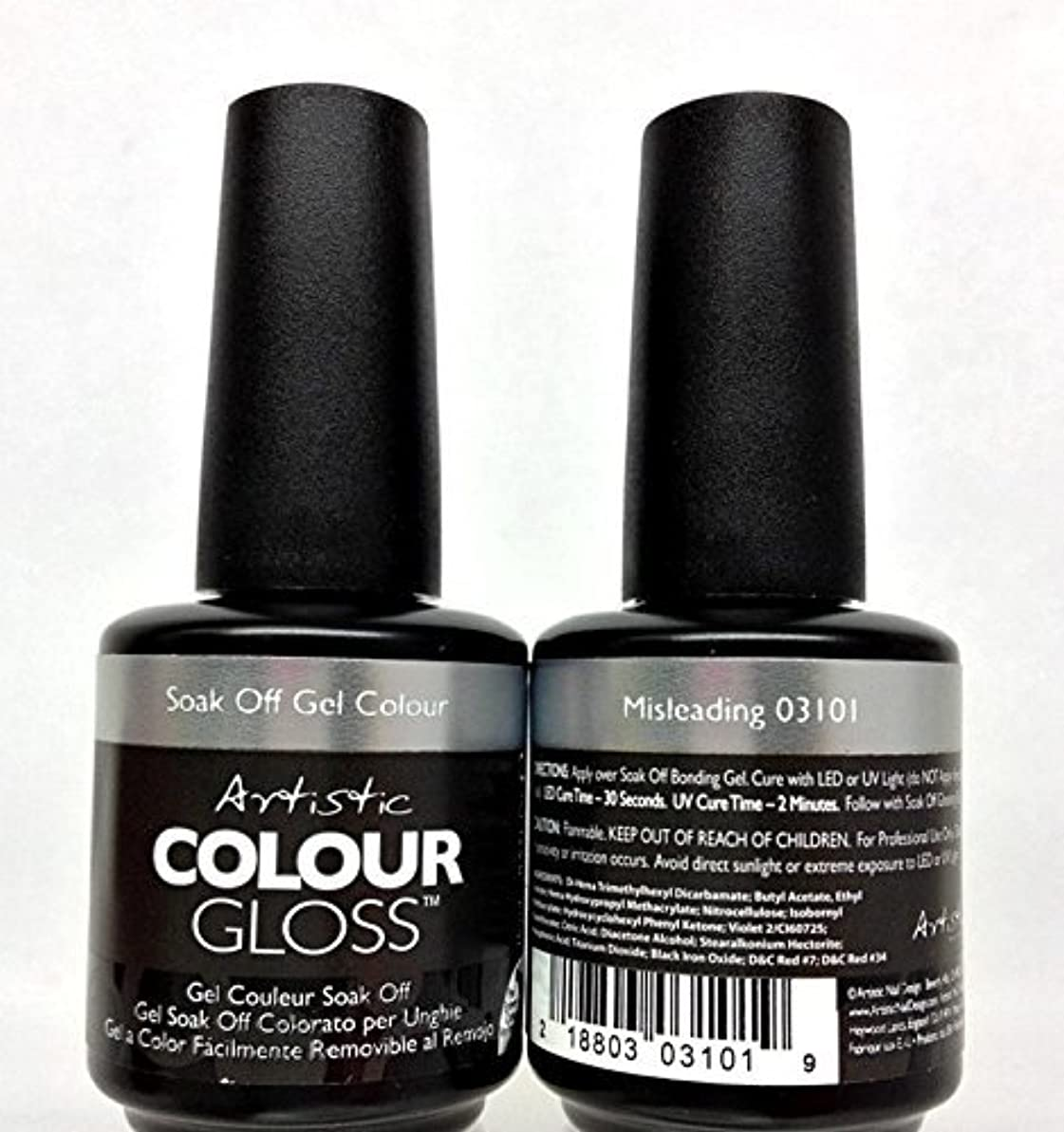承認恐れるアクティビティArtistic Colour Gloss - Misleading - 0.5oz/15ml
