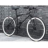 26 pulgadas bicicleta de montaña 24 Frenos de disco delanteros velocidad y trasera Bicicletas Marco de acero de alto carbono camino de la bicicleta for las mujeres de los hombres adultos de Multitudes