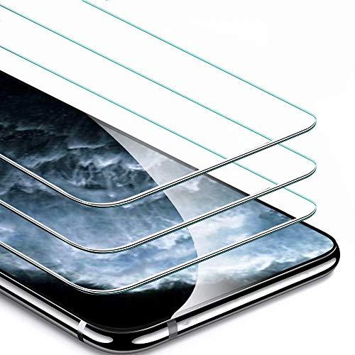 IPAKY iLovecover Pellicola Protettiva in Vetro Temperato per iPhone 11 PRO Max/iPhone XS Max [3 Pezzi] 9H Durezza Ultra Resistente Anti-Graffo,Impronta HD Chiaro Screen Protector