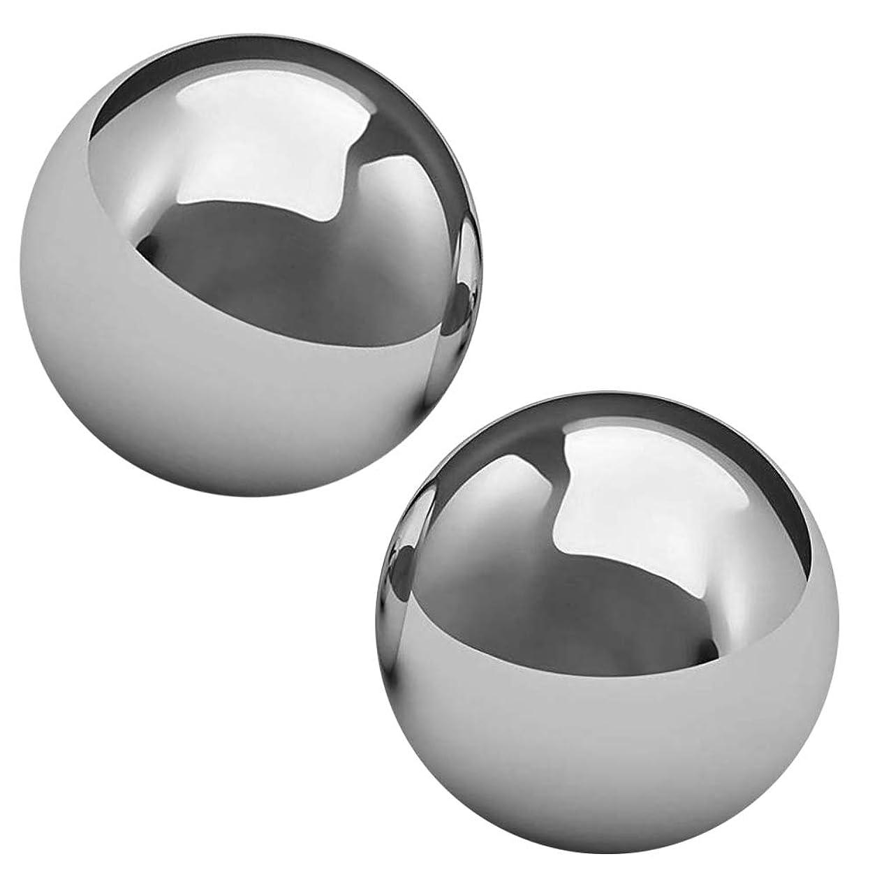 削る馬鹿げたパンツsemi ステンレス製 健康ボール 50mm 2個 ツボ押し 足裏 手の平 マッサージ 脳活性 集中力アップ ストレス解消 楽器練習