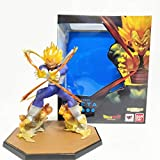 Qwead Figuras De Anime Dragon Ball Z Vegeta Final Flash PVC Juguetes 14Cm, Super Saiyan Modelo Figur...