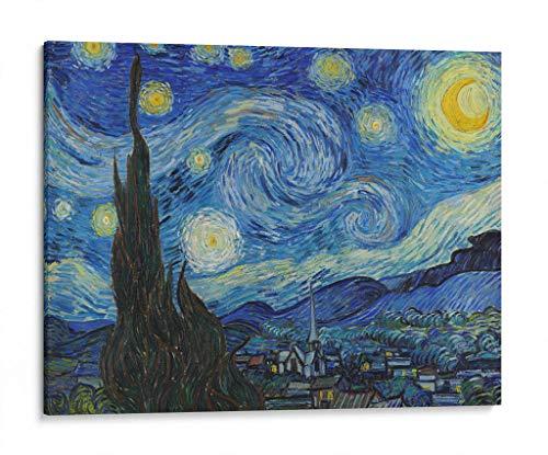 Cuadro decorativo de canvas (lienzo), Noche Estrellada – Vincent Van Gogh – Arte famoso, montado en…