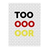artboxONE Ravensburger-Puzzle L (500 Teile) Typografie Tor - Puzzle Fußball Nationalmannschaft Deutschland