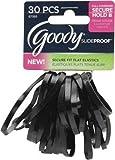 Goody SlideProof 4MM Black Latex Secure Fit Flat Elastics, 30Count