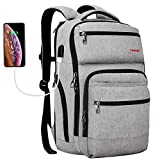 Backpacks for Men,Tigernu Travel Backpack Anti Theft Backpacks with USB Charging Port Water Resistant Backpack for Women & Men Fits 15.6 Inch Laptop